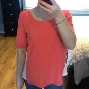 Coral pink/nude 2 toned blouse